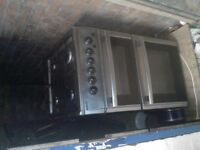 beko black and silver 50cm gas cooker working £25