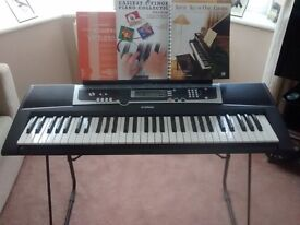 Yamaha YPT-210 Keyboard plus stand & books - in superb condition