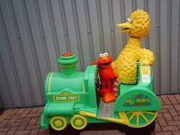 the big bird express sesame street rocker and child learning game