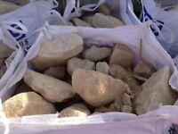 Yellow Limestone Rockery Stones **Bulk Bag**