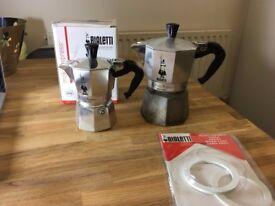 Bialetti 1 cup & 3 cup Moka Express