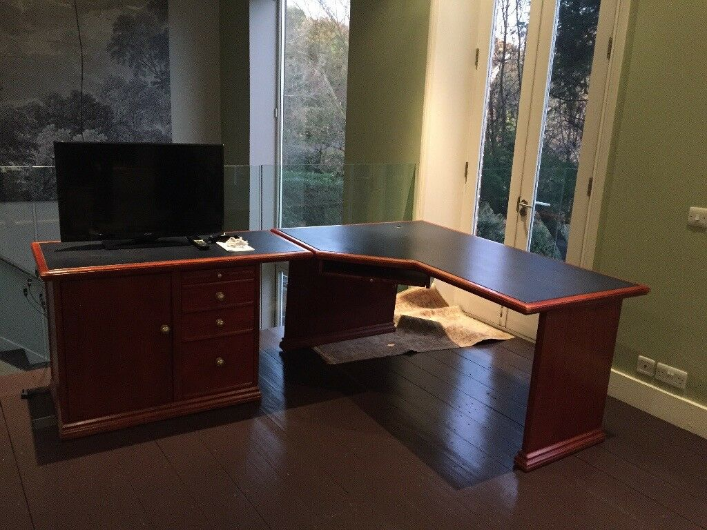 Free To Collect Office Corner Desk Solid Wood
