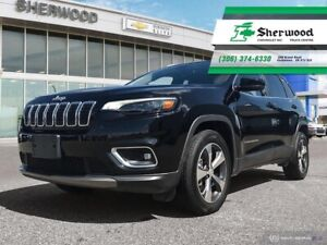 2019 Jeep Cherokee Limited V6 Leather/Sunroof/NAV Only 13,000KMS