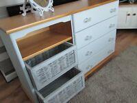 Real wooden dresser unit
