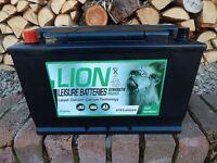 BRAND NEW 110AH Lion leisure Battery New Caravan Boat Camper 2 YEAR WARRANTY