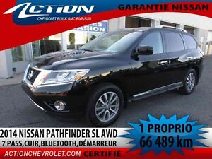 2014 Nissan PATHFINDER SL 4WD,7 pass,cuir,bluetooth