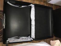 2x Large black Carlton suitcases