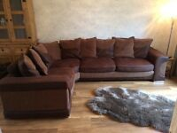 Big cosy corner sofa, mint condition