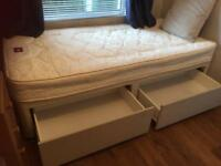 Single bed with mattress. 2 large drawers