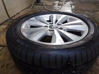 VW GOLF 7 VII 2017 ALLOY WHEELS 16 INCH AND TYRES EX CONDITION