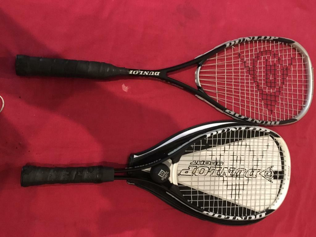 2X Dunlop squash racquets