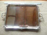 Antique George V Sterling Silver Tea Tray by Cooper Brothers and Sons 1918