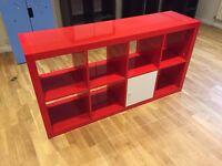 Shelving unit with doors KALLAX from IKEA