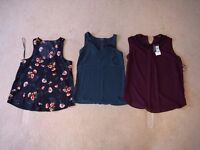 3 x assorted swing vest tops sizes 8 - 10 - 50% discount, offers accepted