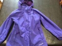 Gelert girls waterproof jacket size 9-10
