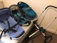 Quinny Buzz Pushchair 2 seat,Carrycot ,bethbear carrier