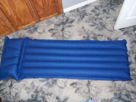 New Single Air Bed Mattress with Attached Pillow
