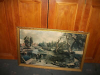 VERY LARGE,FRAMED CONSTABLE PRINT. FLATFORD MILL
