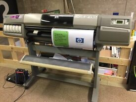 """HP Designjet 5000ps 42"""" dye wide format printer - great for indoor posters"""