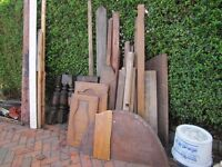 Free timber, including picture framing, table legs, table top, door, cabinet doors, odd bits of oak