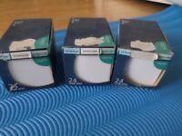 WHITE GLOSS CERAMIC TILES 3 BOXES 10 CMS X 10 CMS