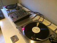 Gemini PDT-6000 Digital Direct Drive Turntables Behringer 3-Channel Mixer plus loads of EXTRAS