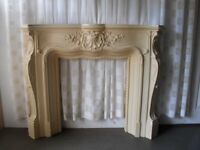 ORNATE FRENCH STYLE PLASTER FIRE SURROUND FOR REPAINTING FREE DELIVERY