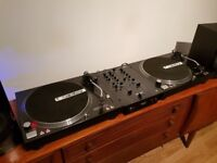 2 x Reloop RP 4000 Turntable/Vinyl/Record player complete with Reloop RMX 22i Mixer.
