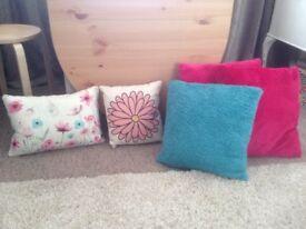5x Assorted Cushions