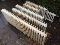 Vintage Reclaimed 4 column Cast Iron Radiators - various sizes - only 5 still available!