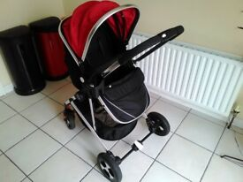 Fly Kids Pram Travel System 3 in 1 Combi Baby Child Pushchair