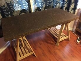 Cork desk or dining table top, IKEA Sinnerlig