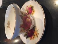 Fine Bone China Teacup by Crown Trent