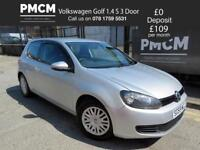 VOLKSWAGEN GOLF 2009 1.4 S 3dr - LOW INSURANCE - ONLY 61,692 MILES - 2 KEYS leon focus polo 2009