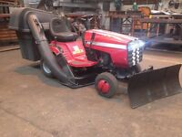 Jonsered LR11 Ride On Mower with snow plough