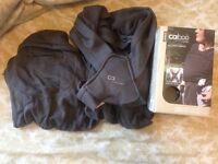 Close Caboo cotton blend baby carrierdark grey excellent condition