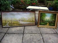 Oil painting x 2, old, very beautiful