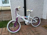 Huffy Style 16 Inch Bike - Girl's - White/Purple.