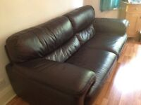 Sofa leather large 3-4 seater -Sofalogy. Downsizing - will be too big for new property