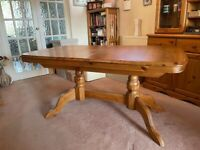 Solid Pine Extendable Dining Table.