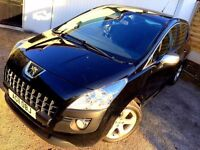 **1 PREV OWNER** 2011 PEUGEOT 30008 SPORT 1.6 HDI S-A BLACK MPV AUTOMATIC DIESEL