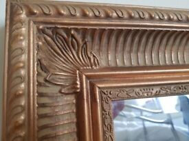 Decorative gold mirror for sale in good condition