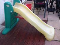Children's plastic folding slide