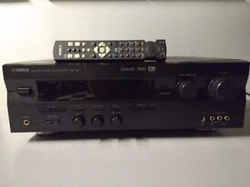 YAMAHA NATURAL SOUND 5.1 AV AMPLIFIER DSP A 5 WITH ORIGINAL REMONTE CONTROL. IN VERY GOOD CONDITION.