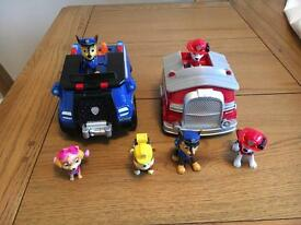 Paw Patrol Vehicle Set with added minis