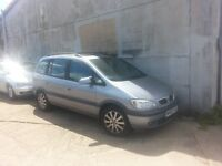 Vauxhall Zafira 1.8 Elegance - Non runner sold for spares or repair