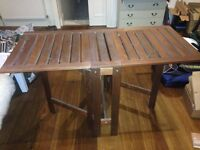 IKEA outdoor table and 4 folding chairs
