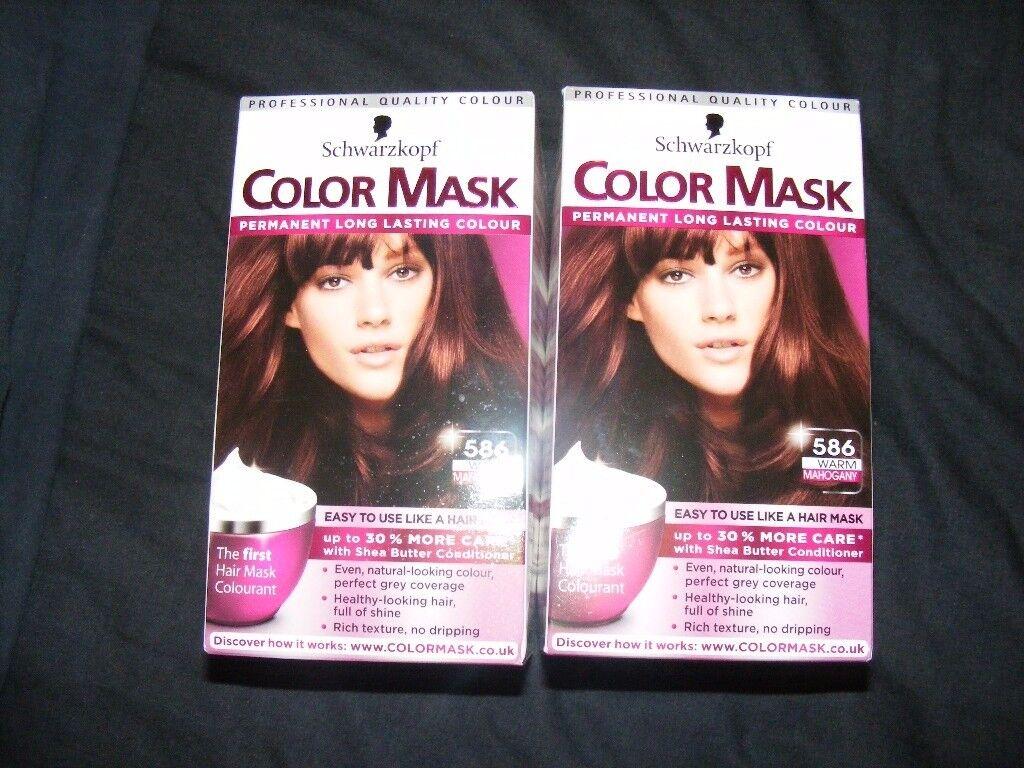 2 X Schwarzkopf Colour Mask Warm Mahogany Hair Colourant In