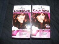 2 x Schwarzkopf colour mask Warm Mahogany Hair Colourant