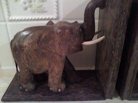 vintage elephant book ends